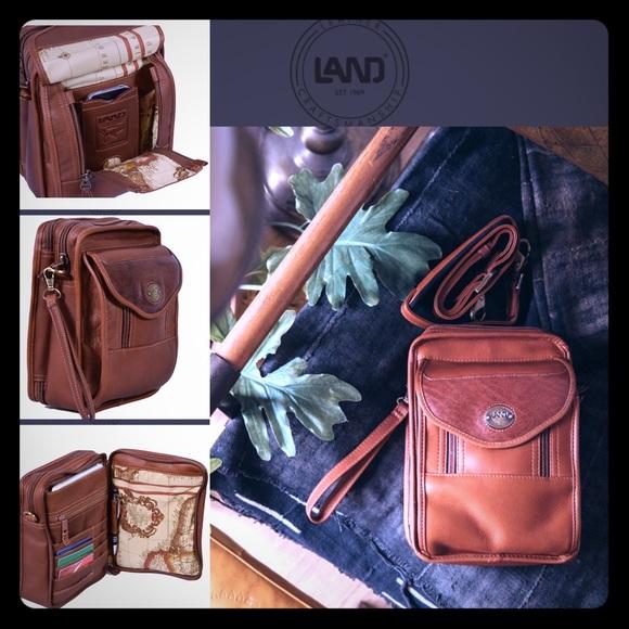 Vintage Land leather Santa Fe Day Bag